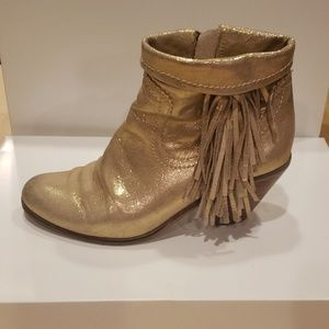 Rare! Sam Edelman Louie Boots in metallic gold